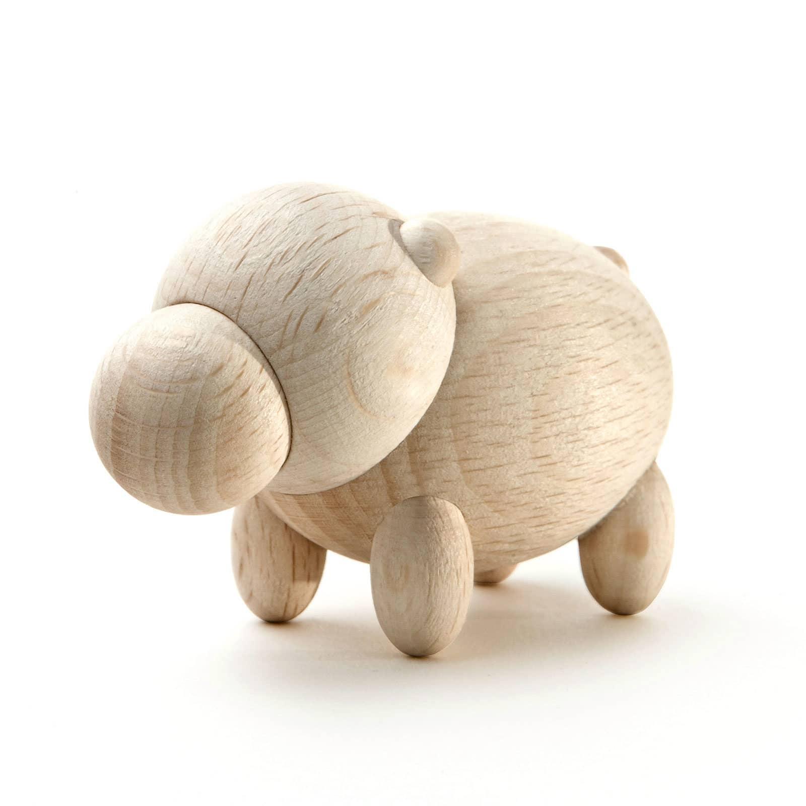 mini ippopotamo in legno 01