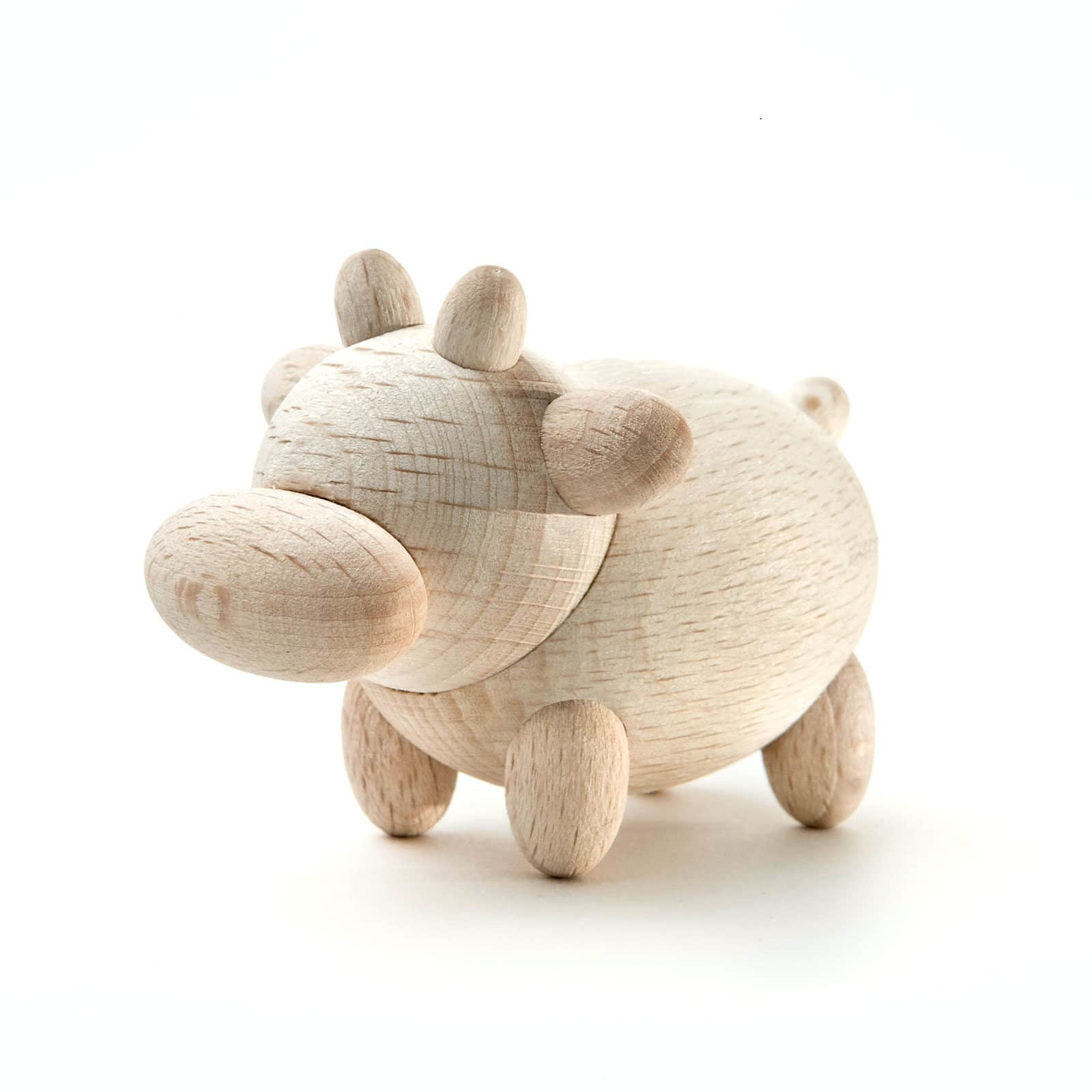 mini mucca in legno 01 1