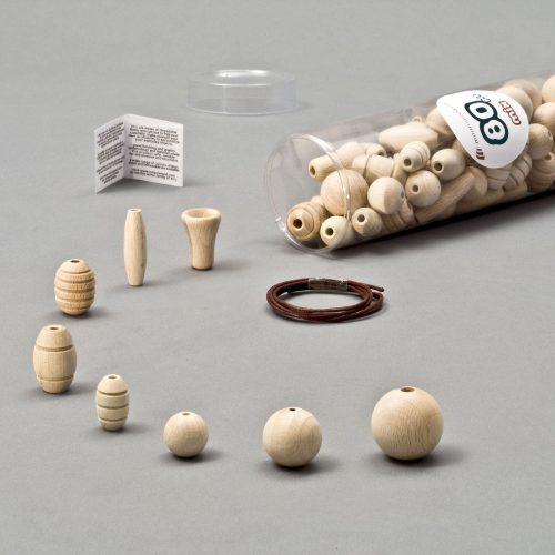 elementi in legno grezzo per bigiotteria